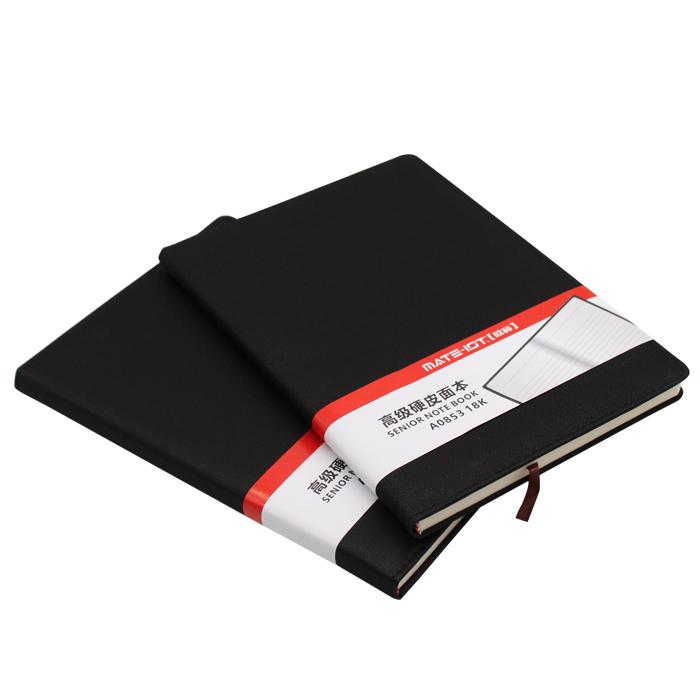 欧标( MATE-1ST) A0853 黑色 PU硬皮面本 18K 内页96页道林纸