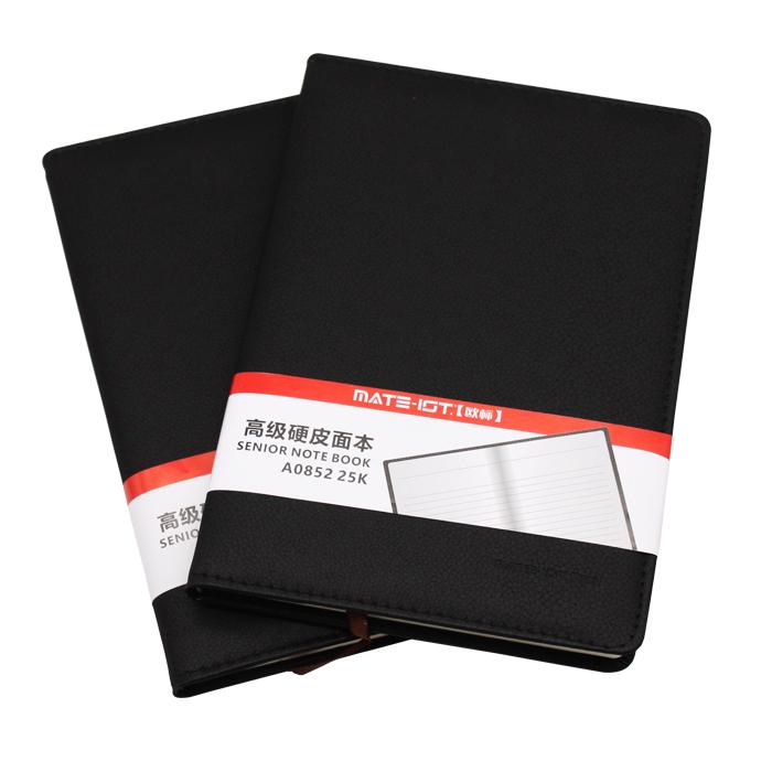 欧标(MATE-1ST) A0852 黑色 PU硬皮面本 25K 内页96页道林纸