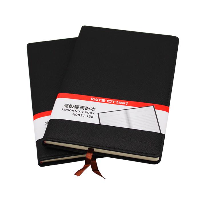 欧标(MATE-1ST) A0851 黑色 PU硬皮面本 32K 内页96页道林纸